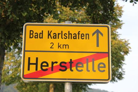 ortsschild: Ortsschild Herstelle Bad Karlshafen