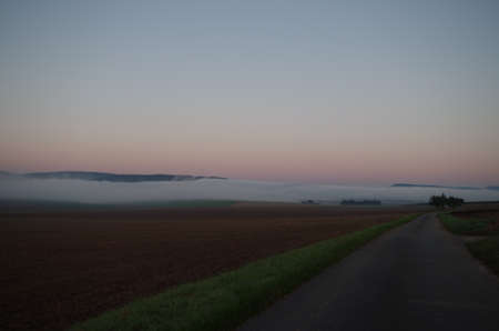 uplands: Weser Uplands in the fog
