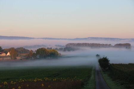 Landscape in the Mist at Emmerthal photo
