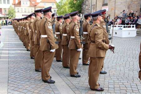 Adoption of the British Armed Forces in Hameln on 06/14/2014
