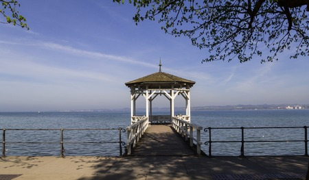 A nice place in Bregenz with a view all over Lake Constance Stock Photo