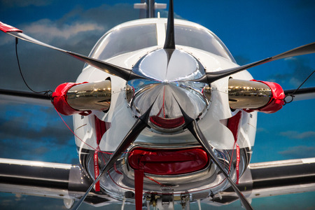Friedrichshafen, Germany, April 8th 2014: The TBM 900 was presented for the first time in Europe at the AERO 2014 in Friedrichshafen. Editorial