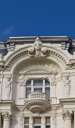 Architectural Detail of an Art Nouveau House in Vienna