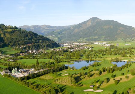 Approach to Zell am See Airport in Salzburg with a golf course underneath