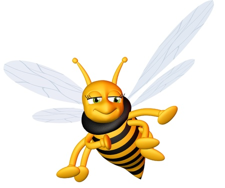 Flying cute bee photo