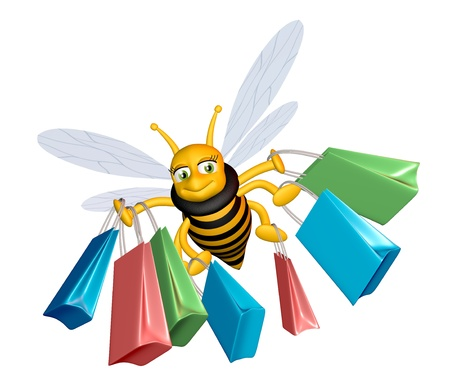 Shopping bee photo