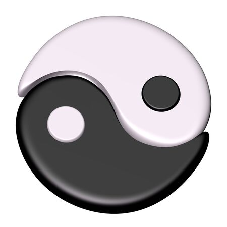 Yin Yang symbol of Tao photo