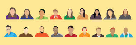 Collection of vector illustrations of people or flat designs from online webinars. Stock fotó - 155875511