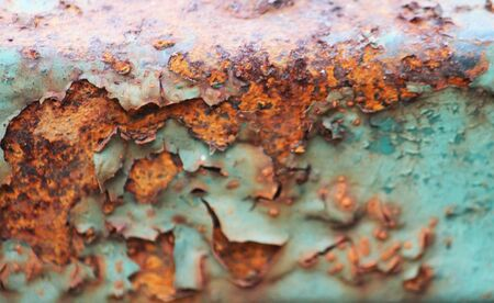 texture of old rusty metal with scratches and cracks for background photo