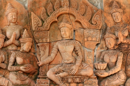 low relief: Thai low relief carvings art  for decorate