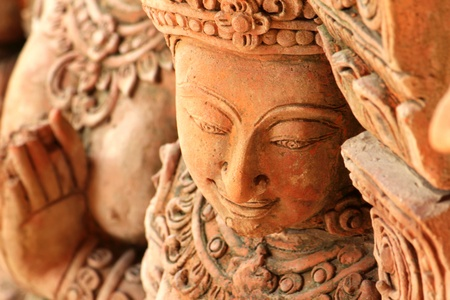 low relief: Thai low relief carvings art for decorate Stock Photo