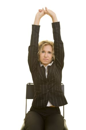 Blonde woman doing some exercises for the back Stock Photo - 3915279