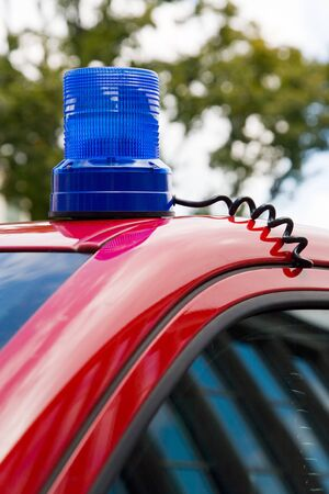 Undercover police vehicle with attached blue light Stock Photo - 4218996
