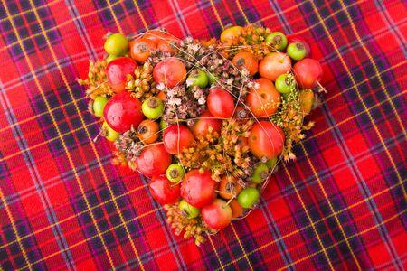 Heart-Shaped Flower Arrangement photo