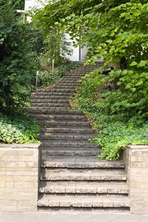 Stairway made of stones going up Stock Photo - 4598271