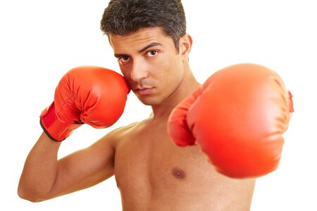 Man with red boxing gloves Stock Photo - 5261851