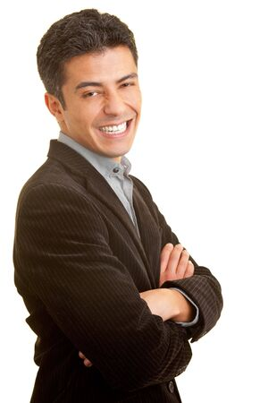 Manager with crossed arms laughing Stock Photo - 5265540