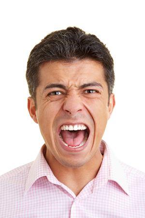 mimic: Man screaming into the camera