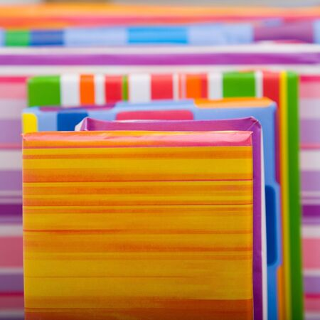 Stack of many colorful christmas gifts on the floor Stock Photo - 5624667