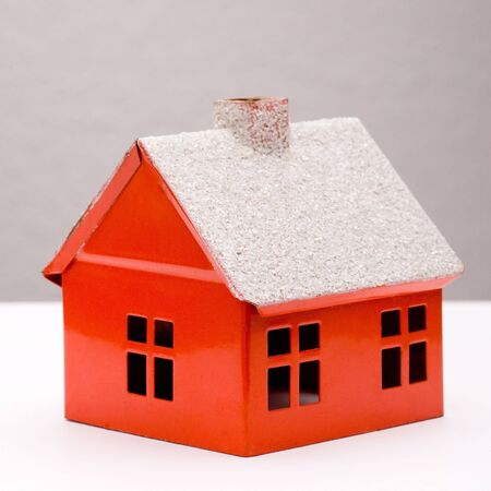 Little red house with chimney and windows Stock Photo - 5649640