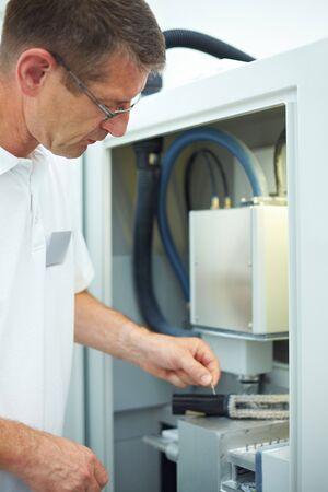 frezowanie: Technika dentystycznego pracy z CAD CAM Zdjęcie Seryjne