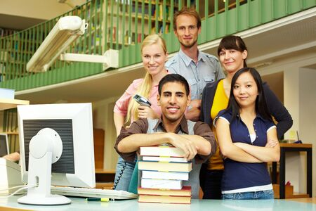 Portrait of library staff in a university Stock Photo - 5931991