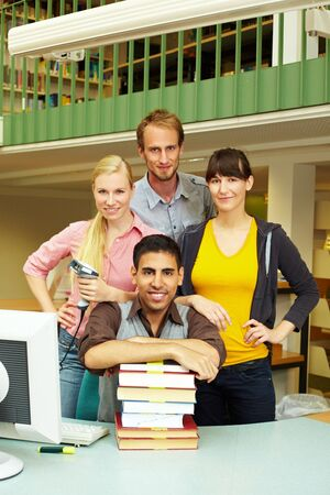 Portrait of library staff in a university photo