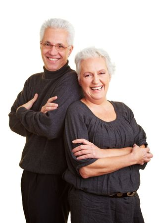 Happy elderly couple leaning on each other Stock Photo - 6375706