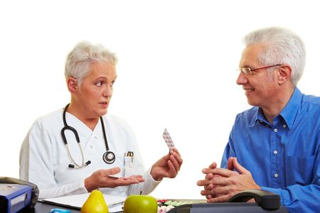Female doctor talkting to one of her patients Stock Photo - 6375735