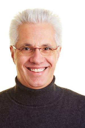 Portrait of an happy old senior citizen photo