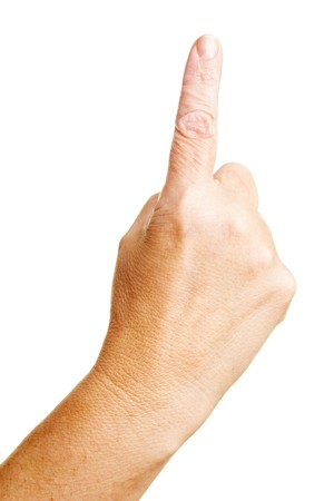 admonester: Avertissement avec agitation index doigt pointant sur