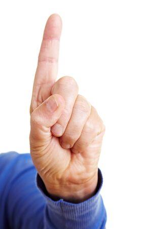 dedo indice: Amonestaci�n con agitando el dedo �ndice hacia arriba