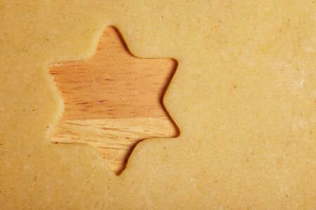 Star shape missing in sweet cookie dough photo