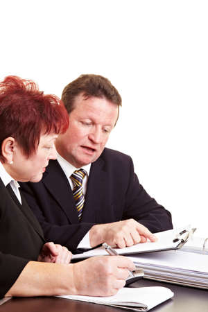 investment strategy: Financial advisor explaining investment strategy to a senior woman Stock Photo