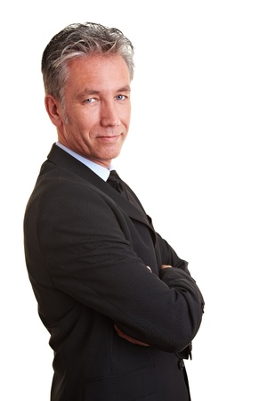 Portrait of a senior business man from the side Stock Photo - 8903797