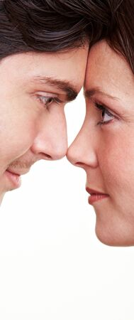 Deep look into the eyes between man and a woman photo