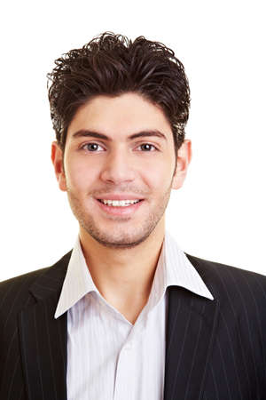 Portrait of a young happy smiling manager Stock Photo - 9323022