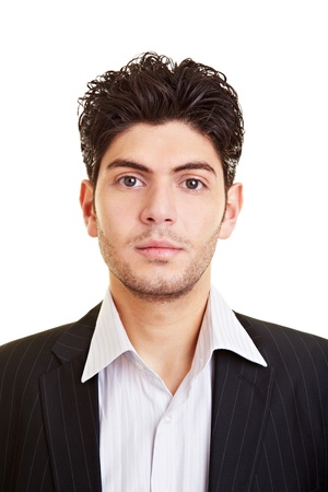Portrait of an attractive young serious business man Stock Photo - 9319254