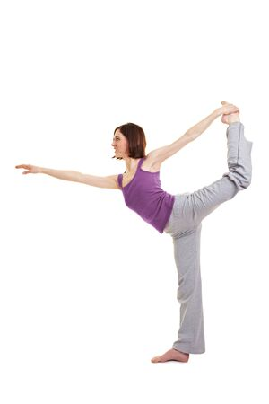 Young woman doing fitness exercises for her back Stock Photo - 9515517