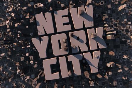 을 슈투트가르트, 건물 및 이름을 뉴욕 시티와 함께 3d에서 도시 도시의 상위 뷰 스톡 콘텐츠
