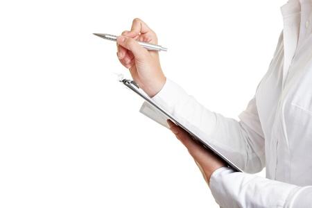 censo: Contando con la pluma y la lista de comprobaci�n en Portapapeles