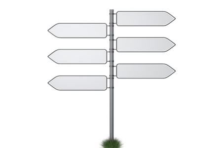 Making a decision with six different signposts Stock Photo - 10483054