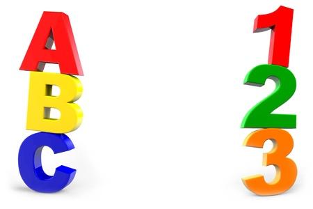 kinder: ABC y 123 clases de preescolar con n�meros y letras