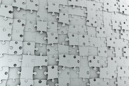 puzzle pieces: Abstract background Puzzle Wand aus vielen verschiedenen grauen St�cken