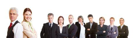 Groupe de nombreux avocats sucessful dans une �quipe de travail