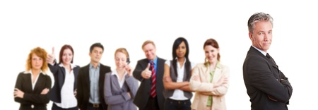 Group of senior business man with his team partners Stock Photo - 12108872