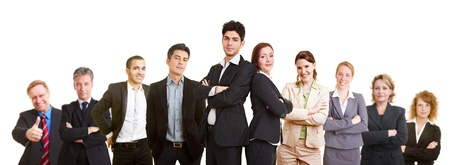 Business team with many different happy lawyers Stock Photo - 12361400
