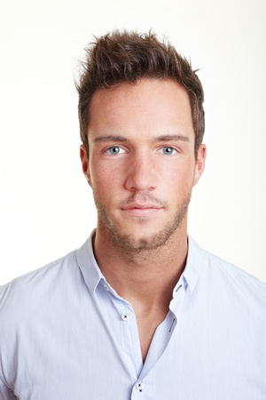 Head shot of young business attractive man photo