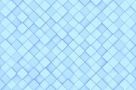 Square blue 3D background pattern made of cubes