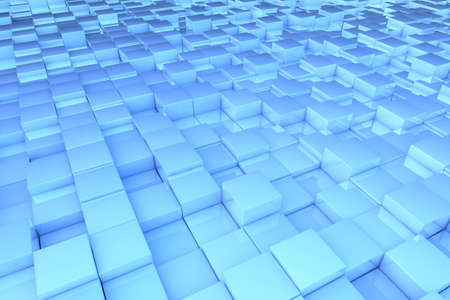 cuboid: Abstract background pattern made of blue 3D cubes